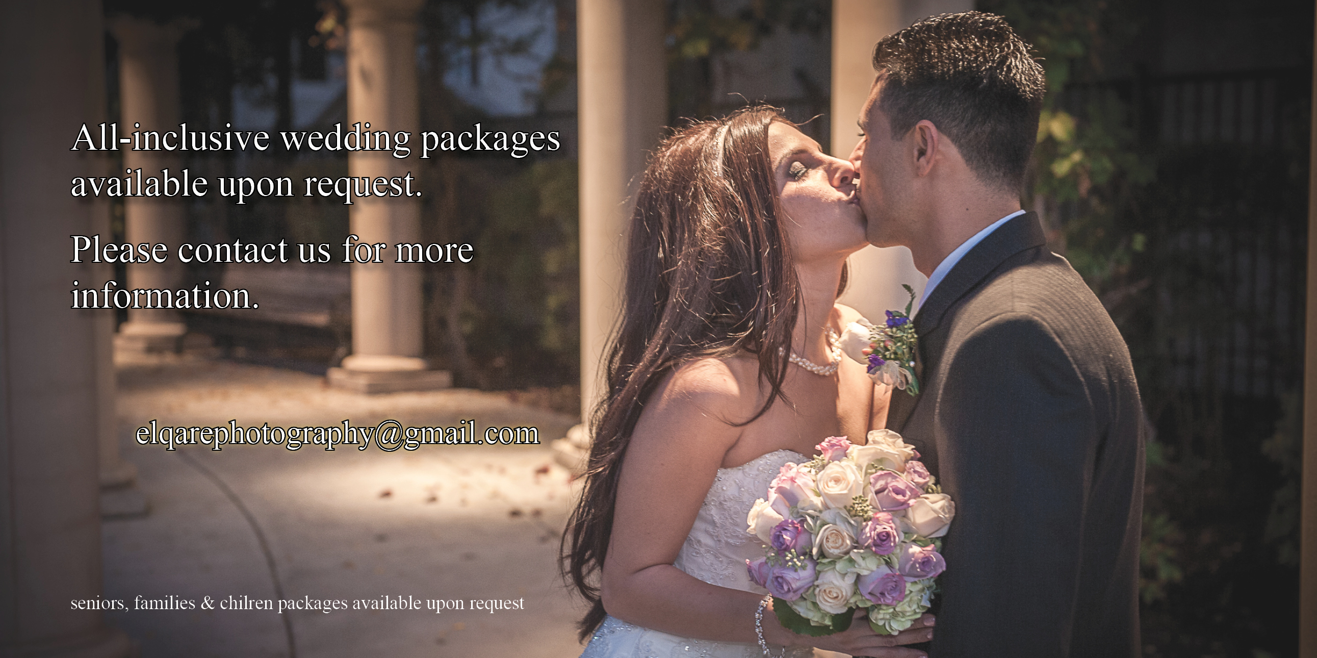 All-inclusive wedding packages available upon request.